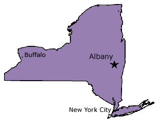 New York, New York City, Albany, Rochester, Buffalo, Syracuse, Schenectady in New York (NY)